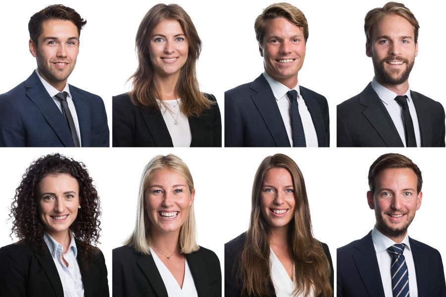 Portretter av ansatte i Oslo med hvit bakgrunn